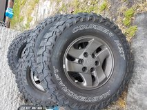 LT285/75R16 Mastercraft Courser MXT tires on 6 bolt Toyota wheels in Wilmington, North Carolina
