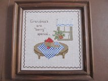 "Framed Needlepoint ""Grandma"" in Yorkville, Illinois"