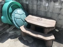Outdoor playground items in Okinawa, Japan