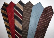 Six (6) Men's Neckties ~ Christian Dior - MF & Co - Mark Shale Ties in Chicago, Illinois