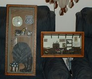 motorcycle shadowbox art work sold as set in Warner Robins, Georgia