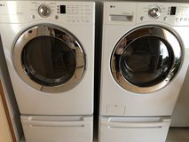 LG Dryer with Pedalstool in Wilmington, North Carolina