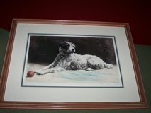 1939  Engraving Hand Colored of Terrier Dog in Shorewood, Illinois