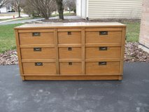 9 Drawer Vintage Rustic Campaign Style Dresser-REDUCED in Lockport, Illinois