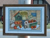 country tile folk art picture or serving tray in Warner Robins, Georgia