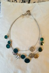 Chico's aqua circle necklace in Ramstein, Germany