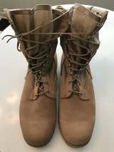 Men's Tan Combat boots in Fort Campbell, Kentucky