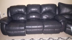 leather couch in Yorkville, Illinois