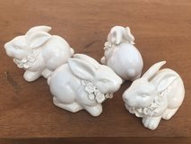 4 Ceramic Bunny Rabbits in Naperville, Illinois
