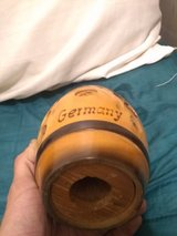 A German Hand Carved Wood Piggy Bank in Fort Benning, Georgia