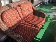 Patio sliding wicker couch in Okinawa, Japan