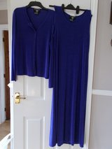 Dress Set size Large by Nina Charles Blue Long sleeveless stretch in Lakenheath, UK