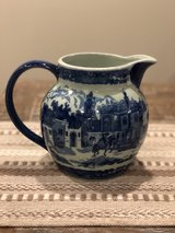 Ironstone Blue Transferware Water Pitcher in Fort Campbell, Kentucky