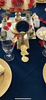 gold table numbers in Beaufort, South Carolina