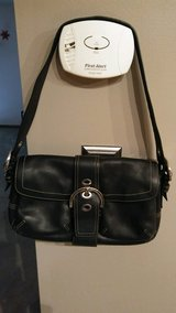 COACH Small, Black, Leather Handbag in Lockport, Illinois