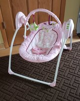 Pink Portable Infant Swing in Lockport, Illinois