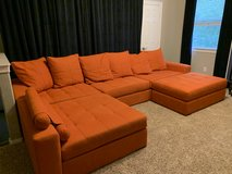 Sectional couch / sofa - 5 pieces with ottoman, pillows and arm rest in Kingwood, Texas