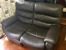Loveseat Couch Sofa Electric reclining foot rests (genuine leather) in Okinawa, Japan