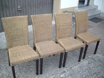5 Rattan chairs in Ramstein, Germany