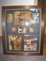 Vintage Babe Ruth & Lou Gehrig Commemorative Frame With Photo's&Cards in Naperville, Illinois
