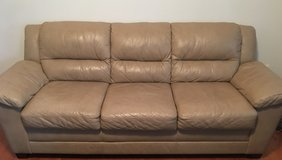 Leather set: sofa, loveseat and chair. in Quantico, Virginia