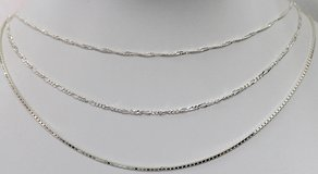 LOT OF 3 ITEMS~ .925F STERLING SILVER CHAINS in Okinawa, Japan