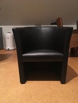 Leather armchair black in Ramstein, Germany