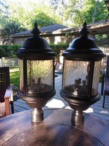 Outdoor post lighting in Spring, Texas