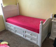 Twin bed with storage in Camp Pendleton, California
