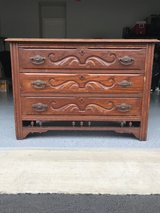 "1930s Vintage (possibly older) Wooden 3-Drawer ""Mustache"" Dresser in Quantico, Virginia"