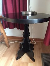 Black round end table in Chicago, Illinois