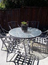 Patio set with 5 over sized chairs in Fairfield, California