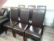 6 Dark Brown Dining Chairs in Ramstein, Germany