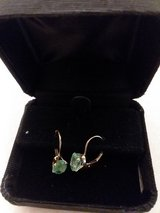 Leverback Emerald Earrings in Sandwich, Illinois