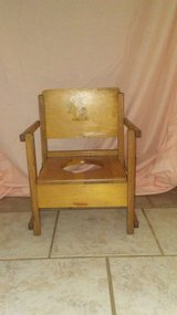 Vintage kids wooden hedstrom potty chair in Cleveland, Texas