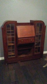 Antique tiger oak side by side secretary desk in Kingwood, Texas