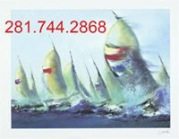 "Stunning Sailing ""July Sails"" wall art Framed, Signed, Certificate of Authenticity from art gall... in Sugar Land, Texas"