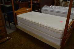 Gently Used Twin Euro top Mattress & box spring by Emerald Home Furnishings in Fort Lewis, Washington