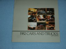1982 Toyota Cars and Trucks Brochure full line-up in Naperville, Illinois