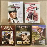 Old Time Cowboy Western Movies DVD Boxed Sets EUC John Wayne Lone Ranger Gene Autry in Fairfield, California
