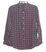 JA John Ashford Long Sleeve Easy Care Plaid Check Shirt Mens XL Blue Red White in Yorkville, Illinois
