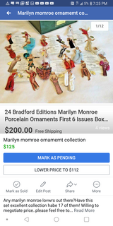 Limited edition marilyn monroe ornaments in 29 Palms, California