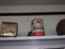Vintage Mobil Oil Can in Fort Riley, Kansas