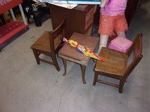 Kid Size Solid Wood Table and Two Chairs Set in Fort Riley, Kansas