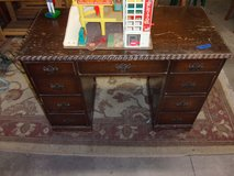 Vintage Solid Wood Desk in Fort Riley, Kansas