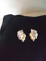 Clip earrings two tone silver and gold in DeKalb, Illinois