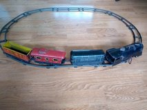 Vintage Marx wind up train set with tracks and key in Shorewood, Illinois