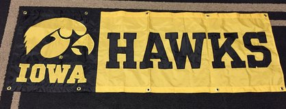 Iowa Hawks Flag College Banner in St. Charles, Illinois