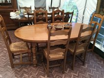 french solid wood dinning table + 6 chairs in Ramstein, Germany