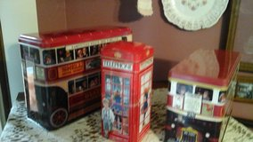 Vintage London  England's Double Decker Bus's & Telephone Booth Tins in Batavia, Illinois